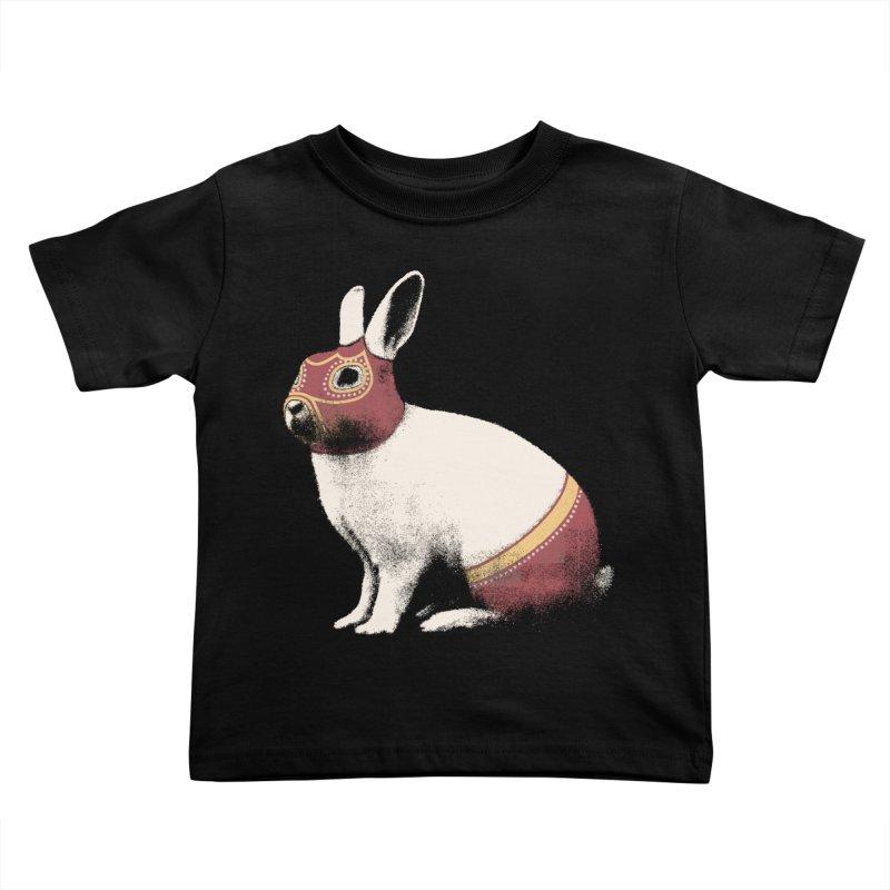 Rabbit Wrestler Kids Toddler T-Shirt by Speakerine / Florent Bodart