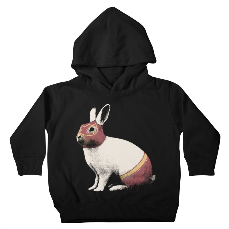 Rabbit Wrestler Kids Toddler Pullover Hoody by Speakerine / Florent Bodart