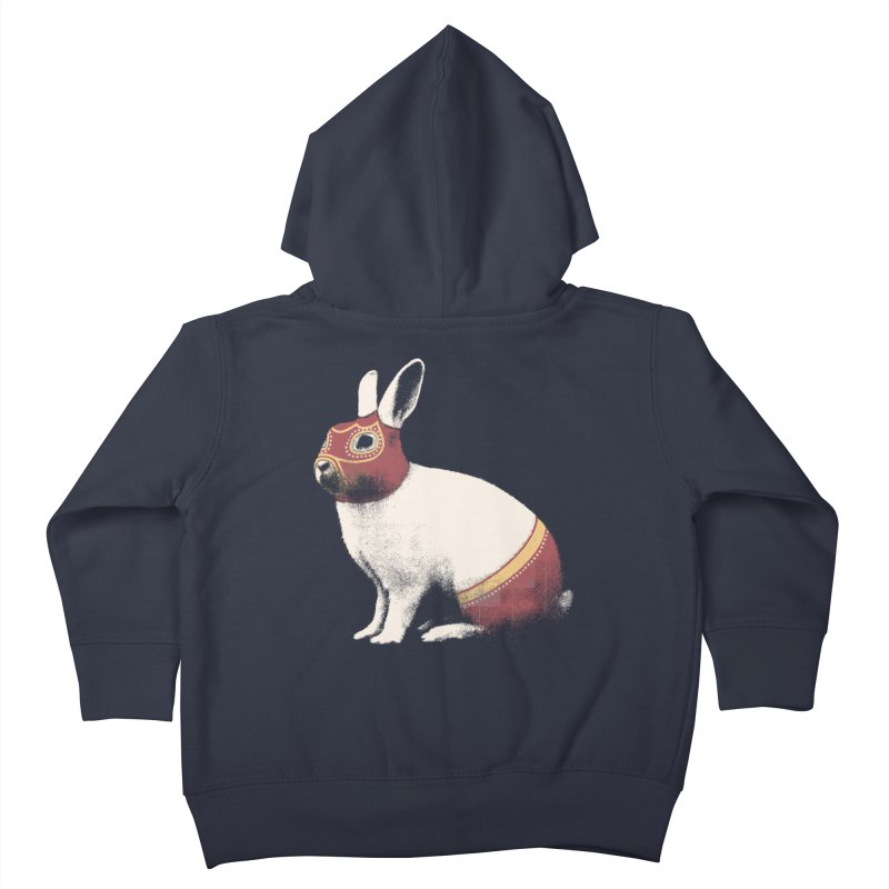 Rabbit Wrestler Kids Toddler Zip-Up Hoody by Speakerine / Florent Bodart