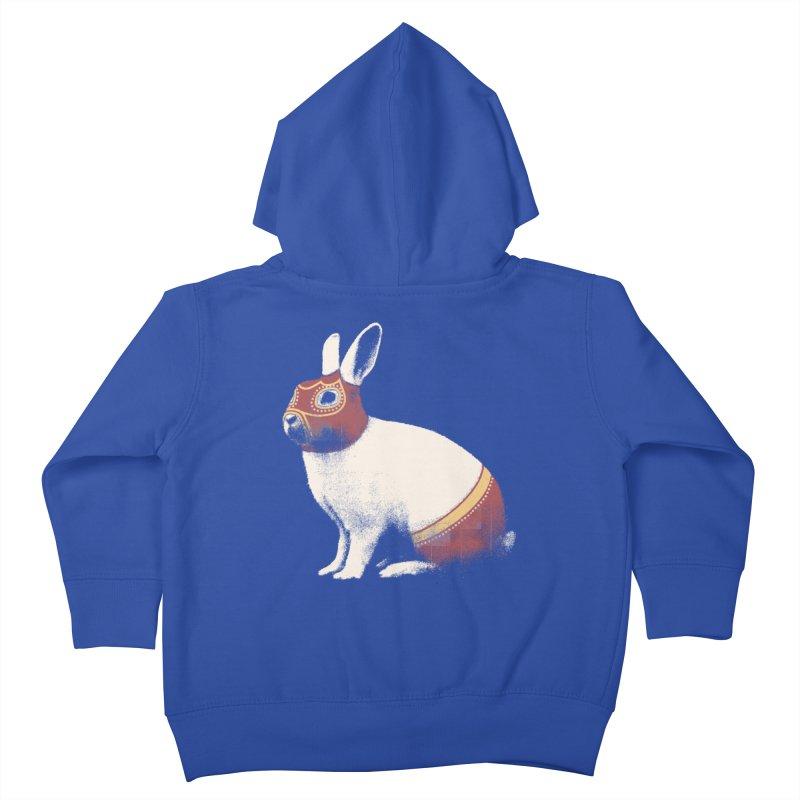 Rabbit Wrestler Kids Toddler Zip-Up Hoody by Speakerine / Florent Bodart