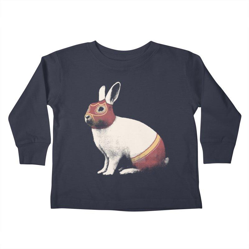 Rabbit Wrestler Kids Toddler Longsleeve T-Shirt by Speakerine / Florent Bodart