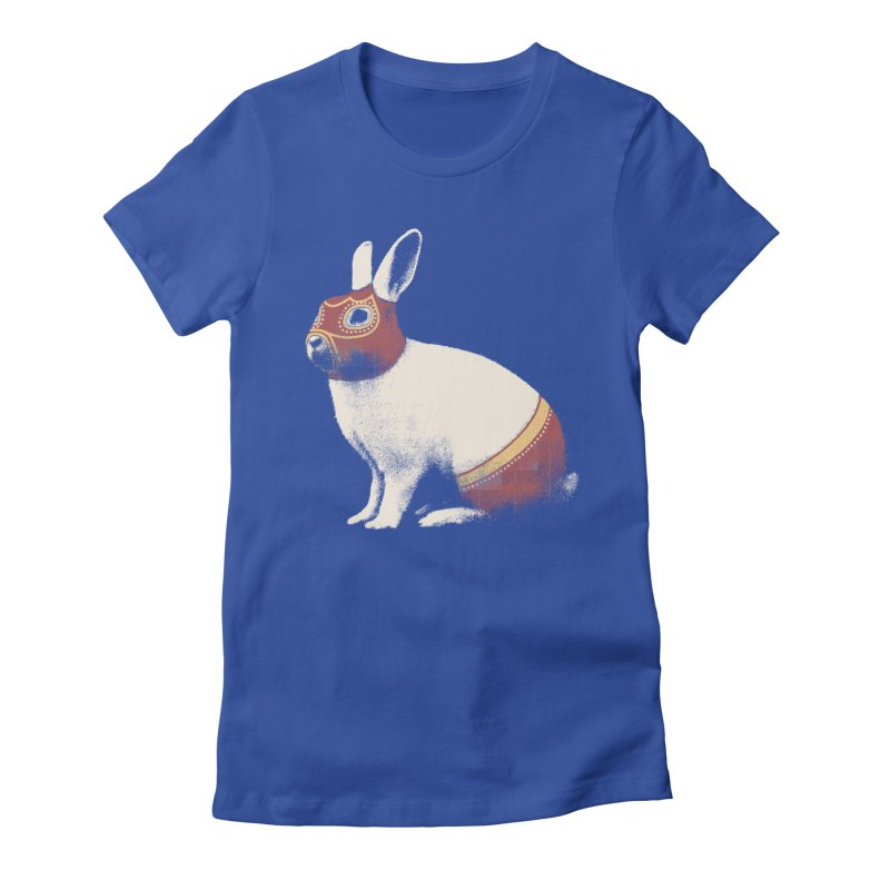 Rabbit Wrestler Women's T-Shirt by Speakerine / Florent Bodart