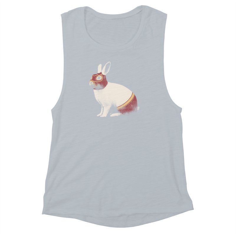Rabbit Wrestler Women's Muscle Tank by Speakerine / Florent Bodart