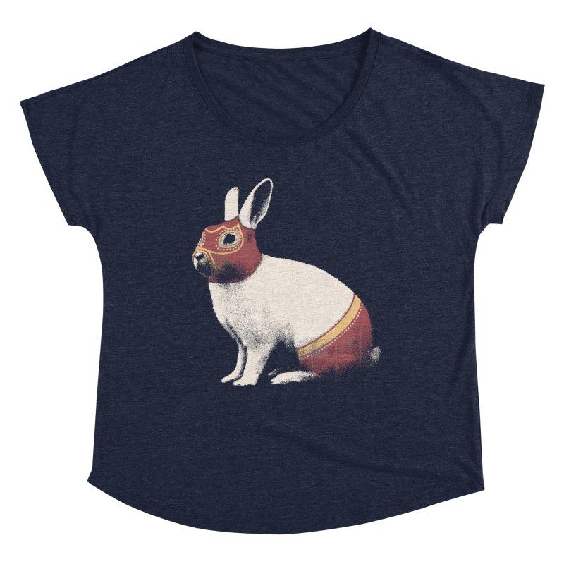 Rabbit Wrestler Women's Scoop Neck by Speakerine / Florent Bodart