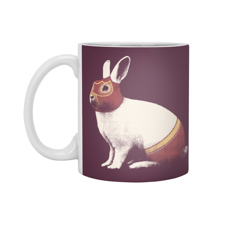Rabbit Wrestler Accessories Standard Mug by Speakerine / Florent Bodart
