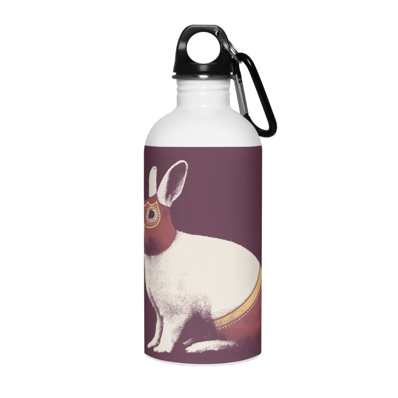 Rabbit Wrestler Accessories Water Bottle by Speakerine / Florent Bodart