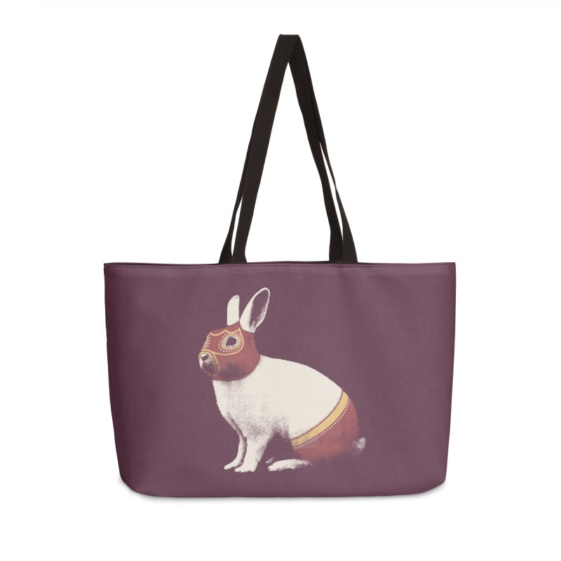 Rabbit Wrestler Accessories Weekender Bag Bag by Speakerine / Florent Bodart