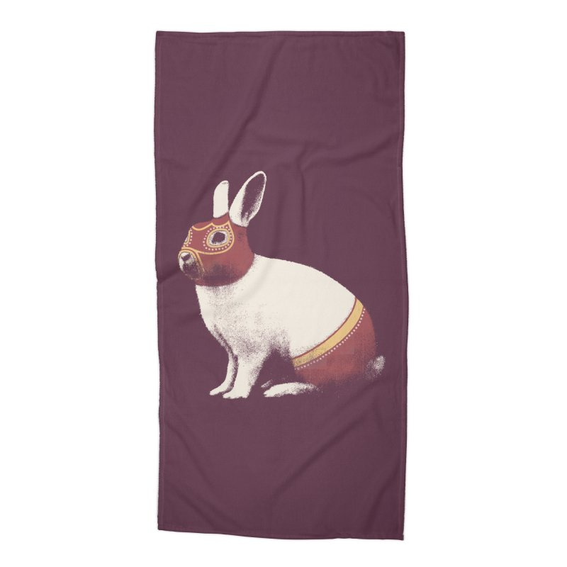 Rabbit Wrestler Accessories Beach Towel by Speakerine / Florent Bodart