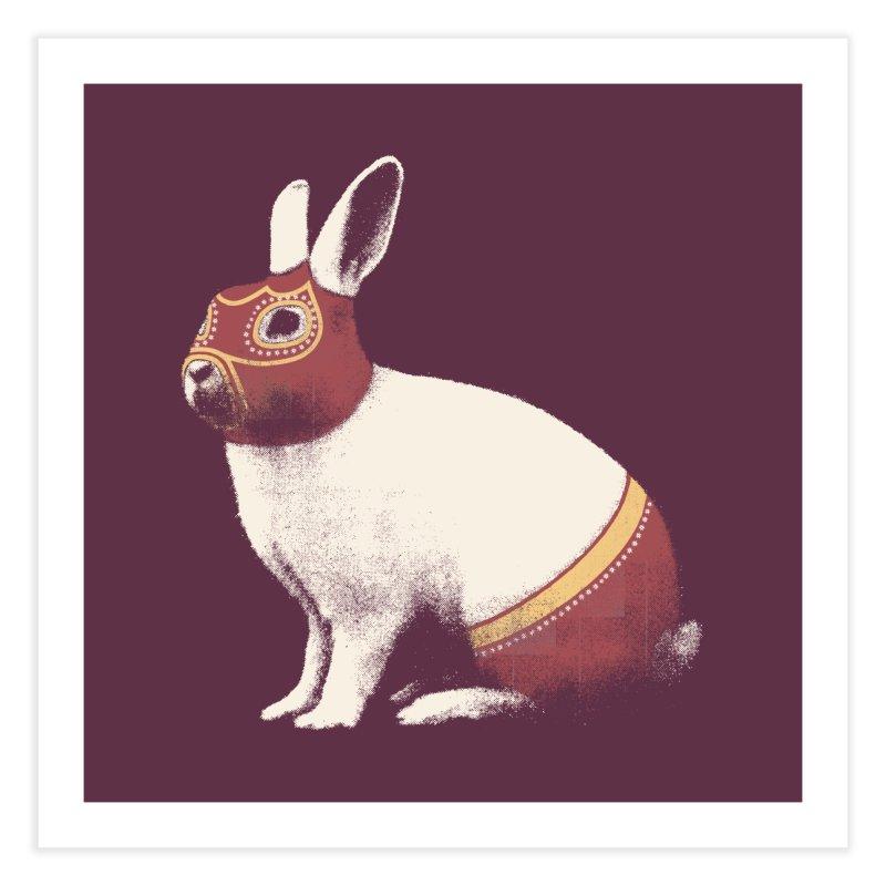 Rabbit Wrestler Home Fine Art Print by Speakerine / Florent Bodart