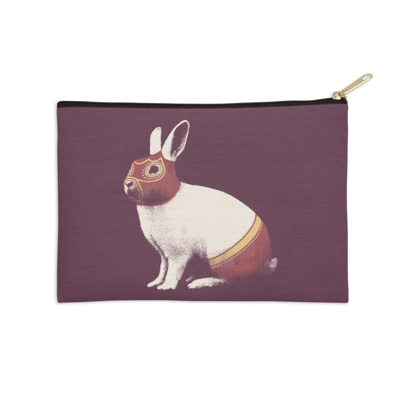 Rabbit Wrestler Accessories Zip Pouch by Speakerine / Florent Bodart