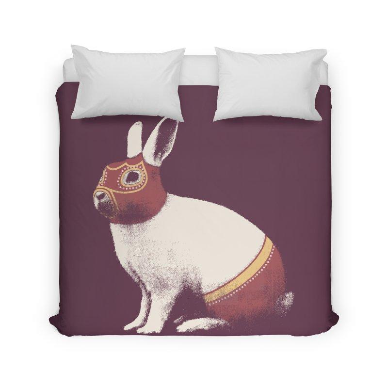 Rabbit Wrestler Home Duvet by Speakerine / Florent Bodart