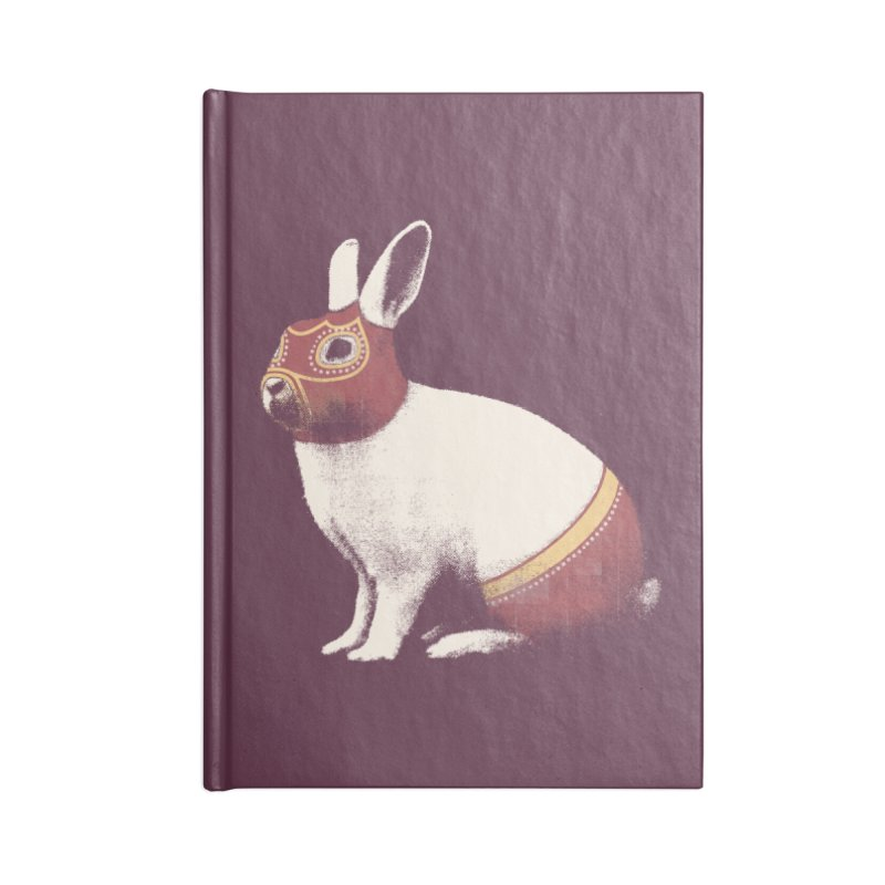 Rabbit Wrestler Accessories Blank Journal Notebook by Speakerine / Florent Bodart