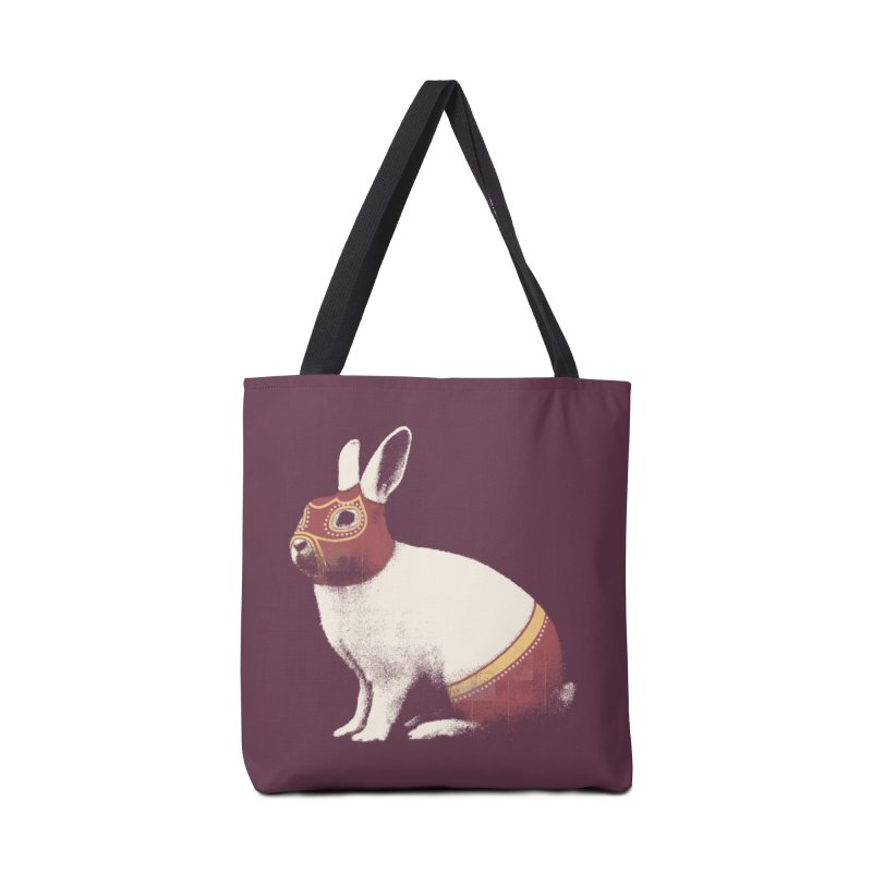 Rabbit Wrestler Accessories Tote Bag Bag by Speakerine / Florent Bodart