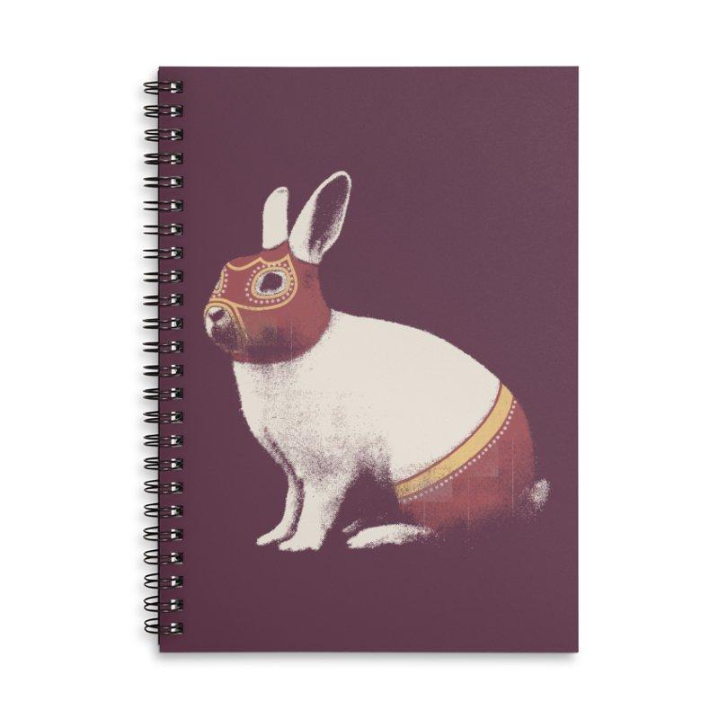 Rabbit Wrestler Accessories Lined Spiral Notebook by Speakerine / Florent Bodart