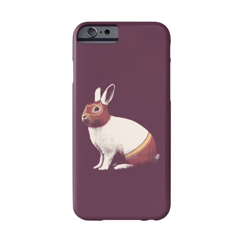 Rabbit Wrestler Accessories Phone Case by Speakerine / Florent Bodart