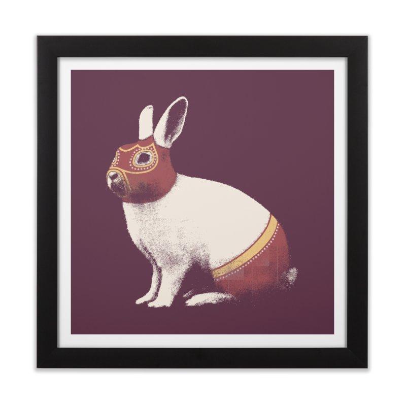 Rabbit Wrestler Home Framed Fine Art Print by Speakerine / Florent Bodart