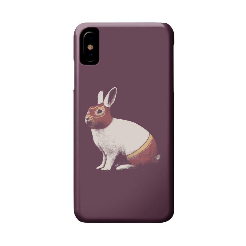 Rabbit Wrestler Accessories Phone Case by Speakerine / Florent Bodart