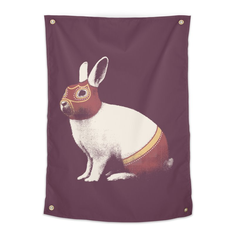 Rabbit Wrestler Home Tapestry by Speakerine / Florent Bodart