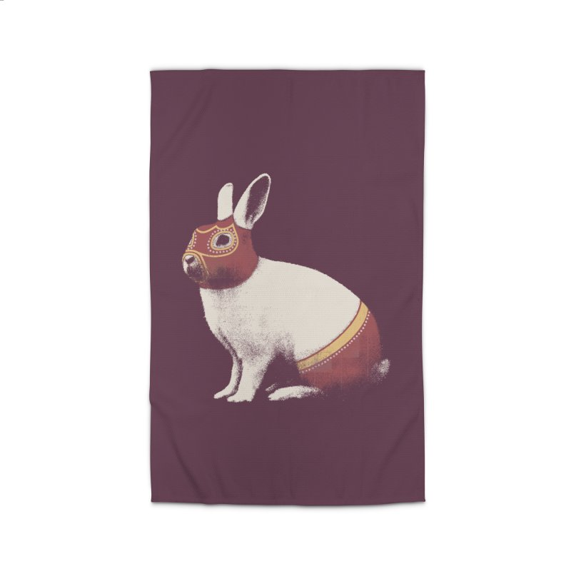 Rabbit Wrestler Home Rug by Speakerine / Florent Bodart