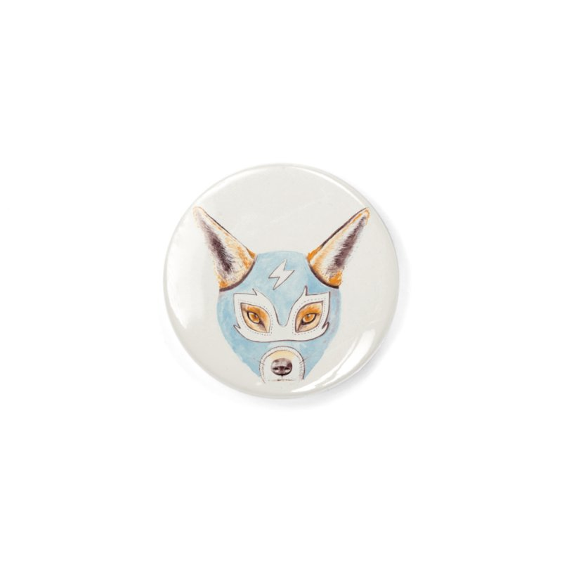 Andrew, the Fox Wrestler Accessories Button by Speakerine / Florent Bodart