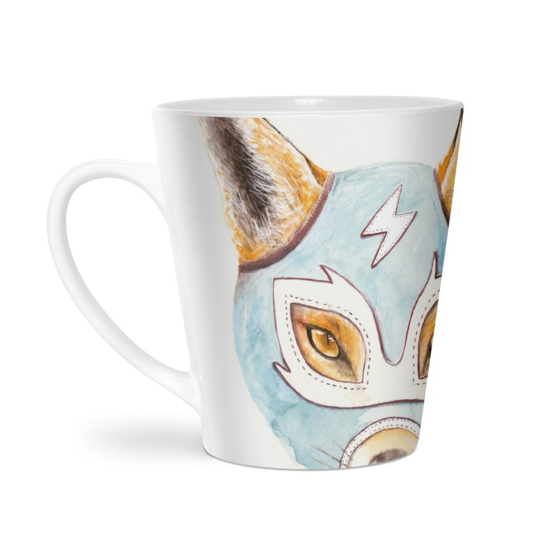 Andrew, the Fox Wrestler Accessories Latte Mug by Speakerine / Florent Bodart