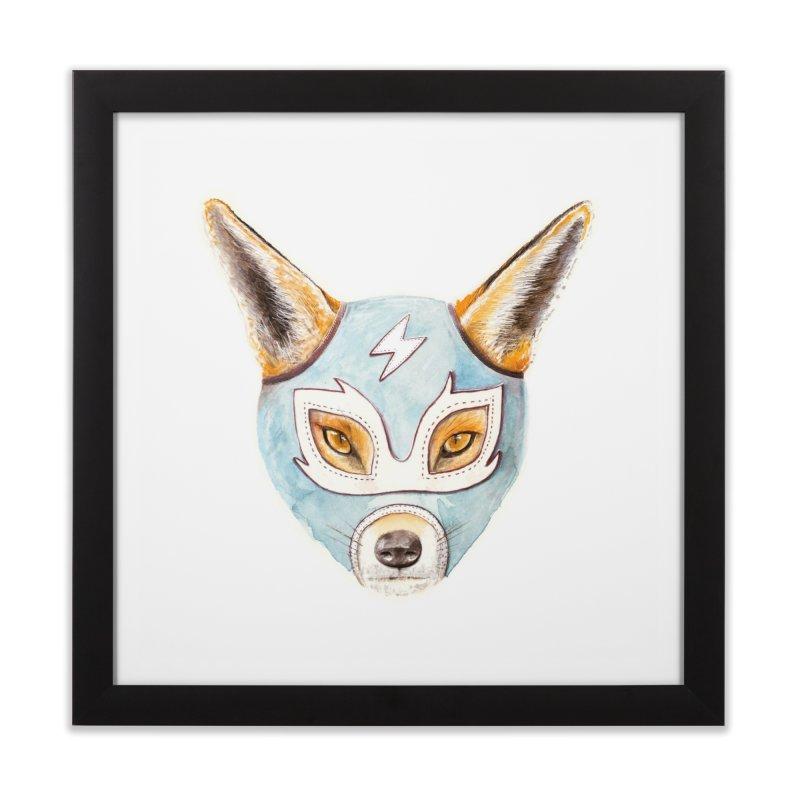 Andrew, the Fox Wrestler Home Framed Fine Art Print by Speakerine / Florent Bodart