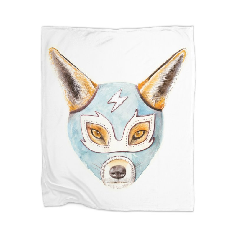 Andrew, the Fox Wrestler Home Blanket by Speakerine / Florent Bodart