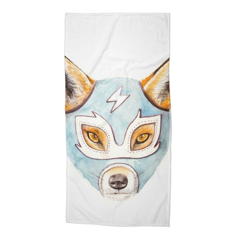 Andrew, the Fox Wrestler Accessories Beach Towel by Speakerine / Florent Bodart