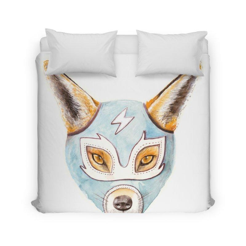 Andrew, the Fox Wrestler Home Duvet by Speakerine / Florent Bodart