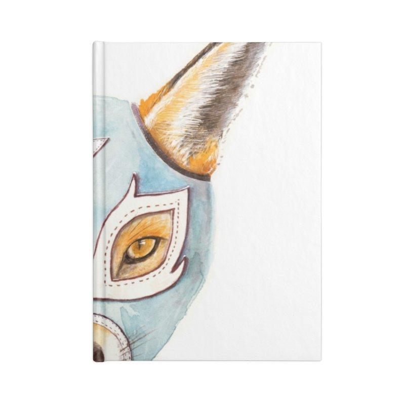 Andrew, the Fox Wrestler Accessories Lined Journal Notebook by Speakerine / Florent Bodart