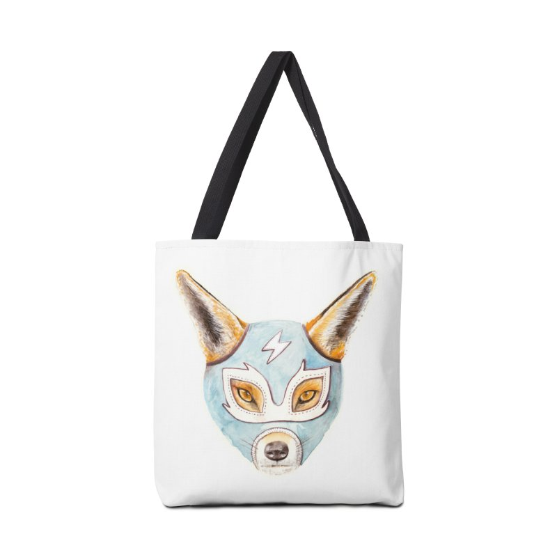 Andrew, the Fox Wrestler Accessories Tote Bag Bag by Speakerine / Florent Bodart