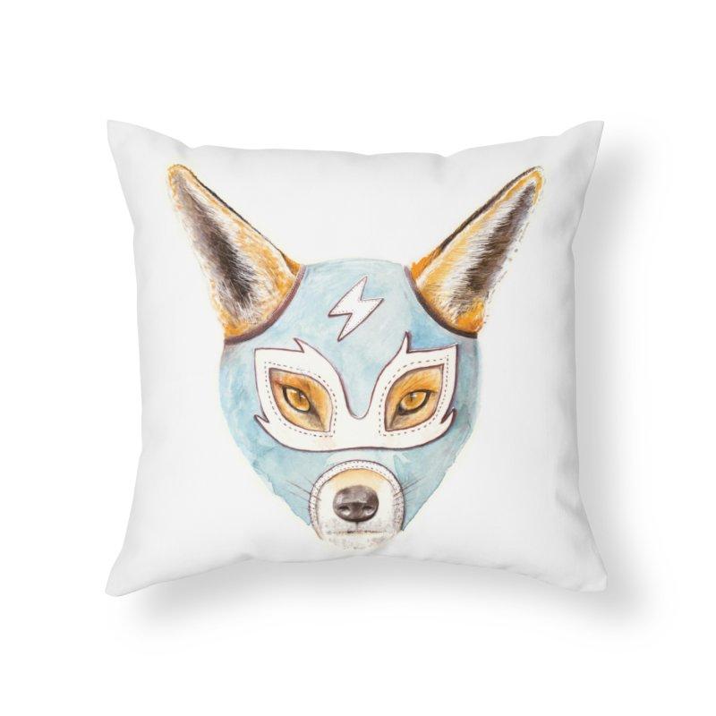 Andrew, the Fox Wrestler Home Throw Pillow by Speakerine / Florent Bodart