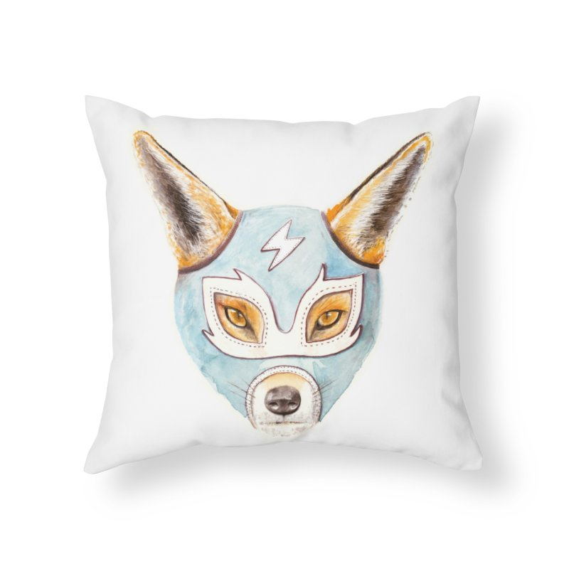Andrew, the Fox Wrestler Home Throw Pillow by Speakerine / Florent Bodart