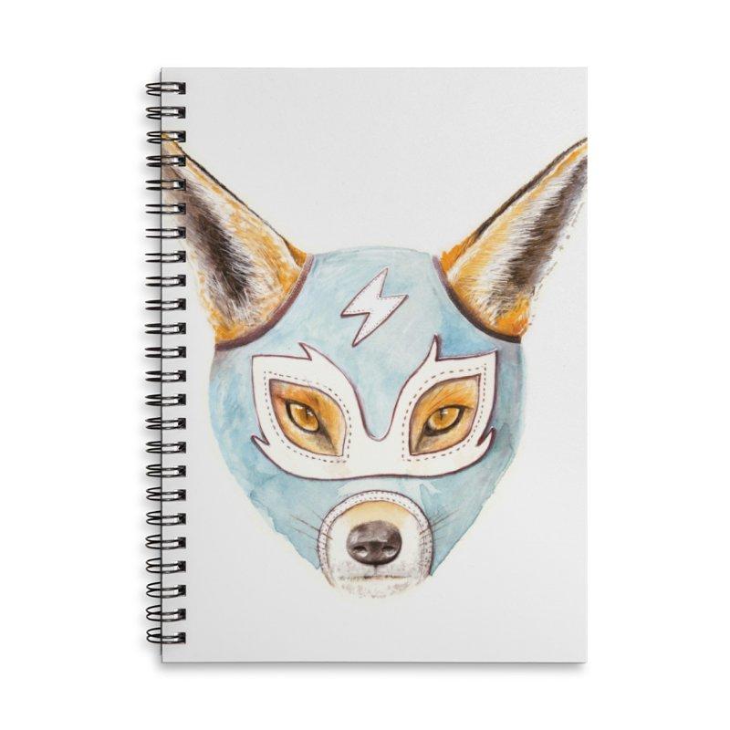 Andrew, the Fox Wrestler Accessories Lined Spiral Notebook by Speakerine / Florent Bodart