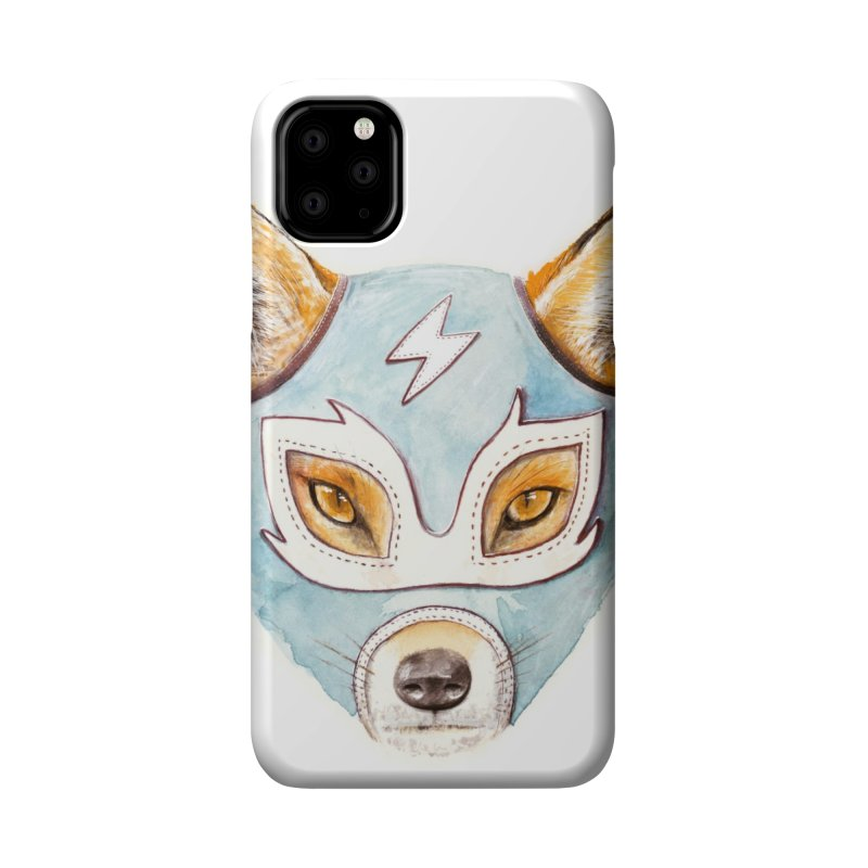 Andrew, the Fox Wrestler Accessories Phone Case by Speakerine / Florent Bodart