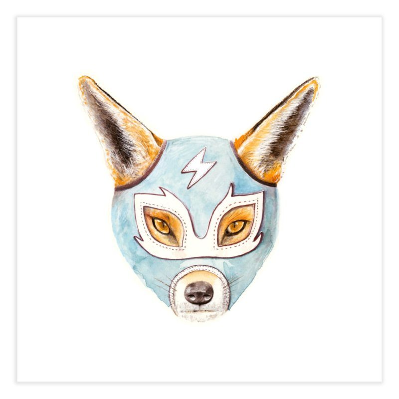 Andrew, the Fox Wrestler Home Fine Art Print by Speakerine / Florent Bodart