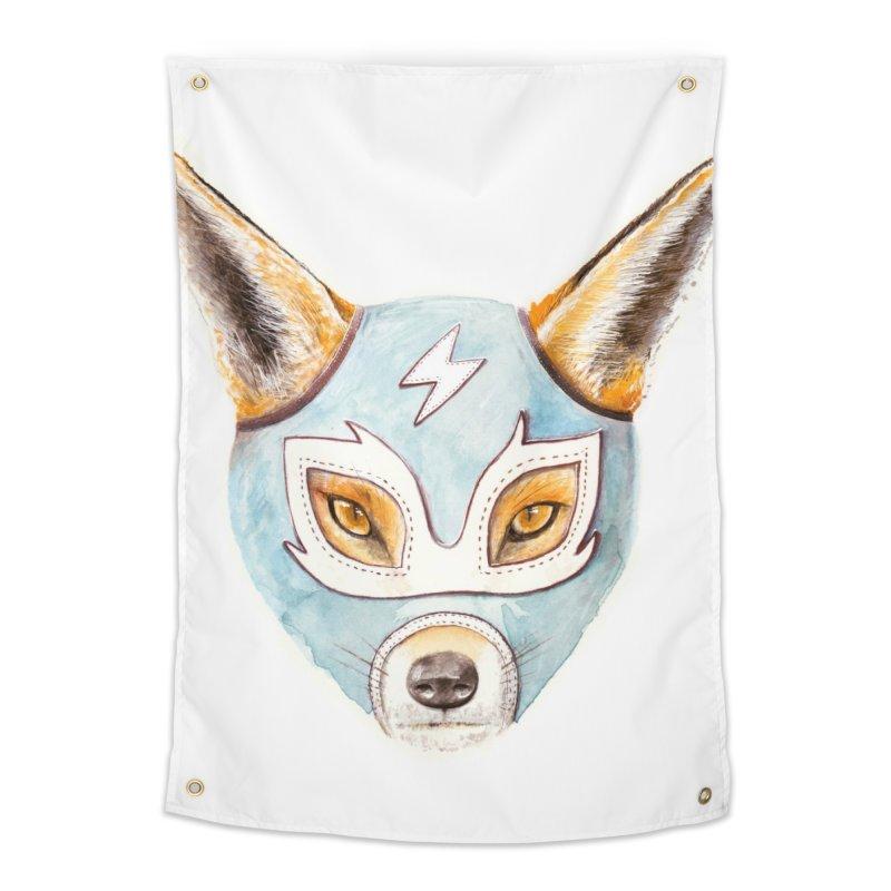 Andrew, the Fox Wrestler Home Tapestry by Speakerine / Florent Bodart
