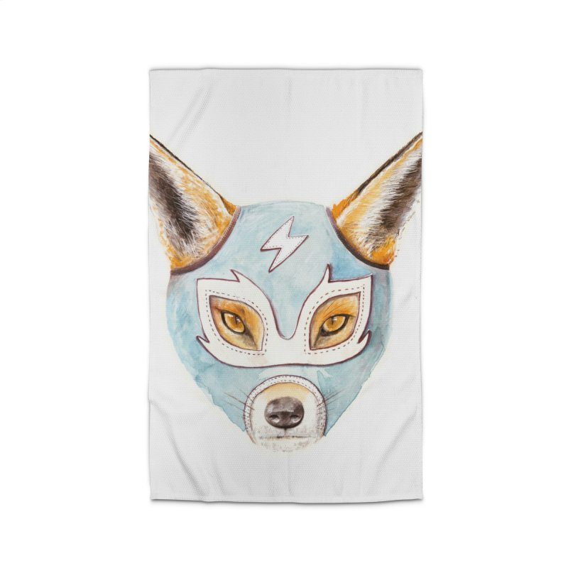 Andrew, the Fox Wrestler Home Rug by Speakerine / Florent Bodart