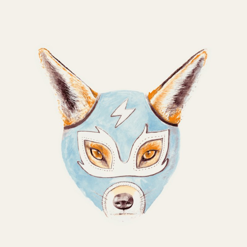 Andrew, the Fox Wrestler Kids Pullover Hoody by Speakerine / Florent Bodart