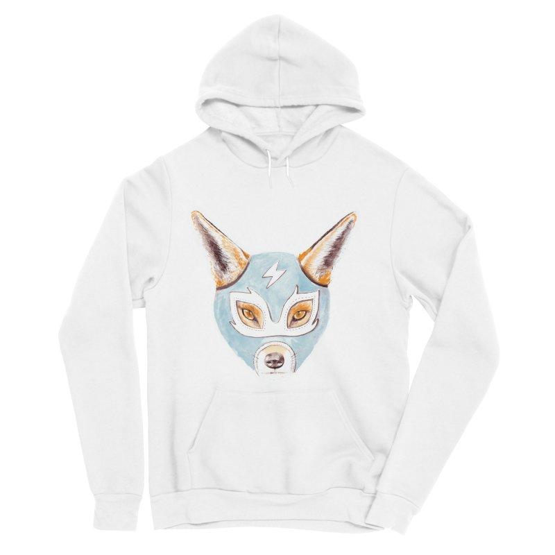 Andrew, the Fox Wrestler Men's Sponge Fleece Pullover Hoody by Speakerine / Florent Bodart