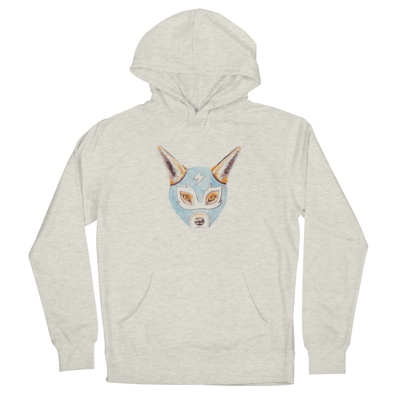 Andrew, the Fox Wrestler Men's French Terry Pullover Hoody by Speakerine / Florent Bodart