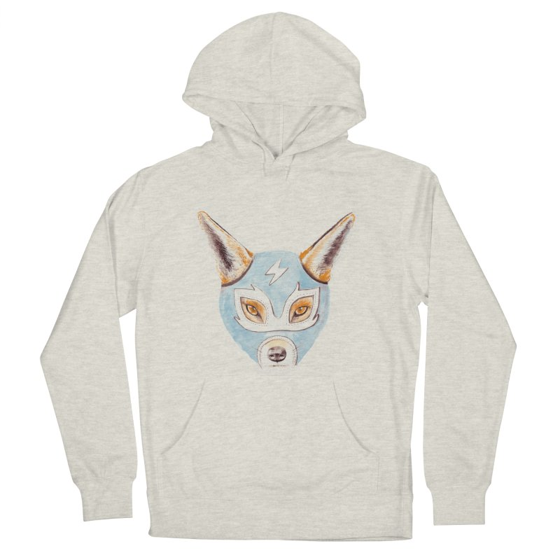 Andrew, the Fox Wrestler Women's French Terry Pullover Hoody by Speakerine / Florent Bodart