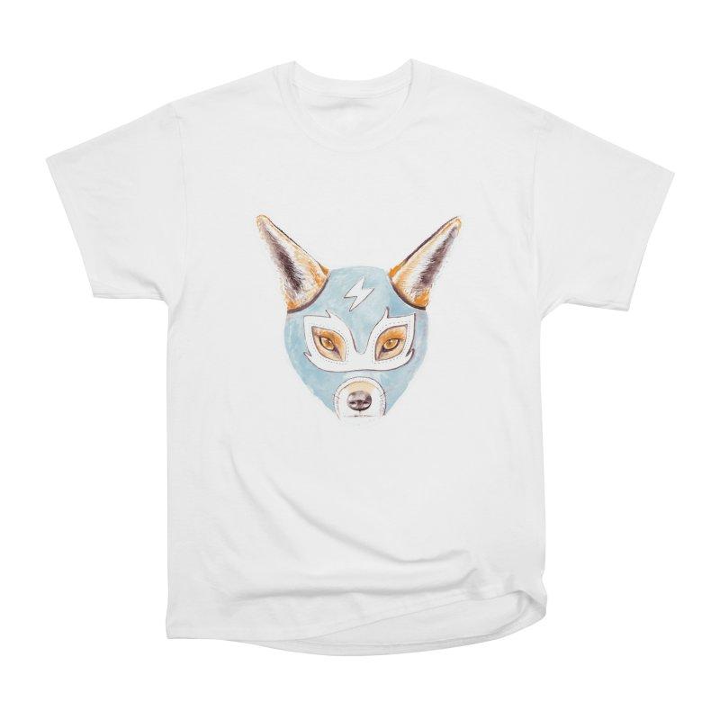 Andrew, the Fox Wrestler Men's Heavyweight T-Shirt by Speakerine / Florent Bodart