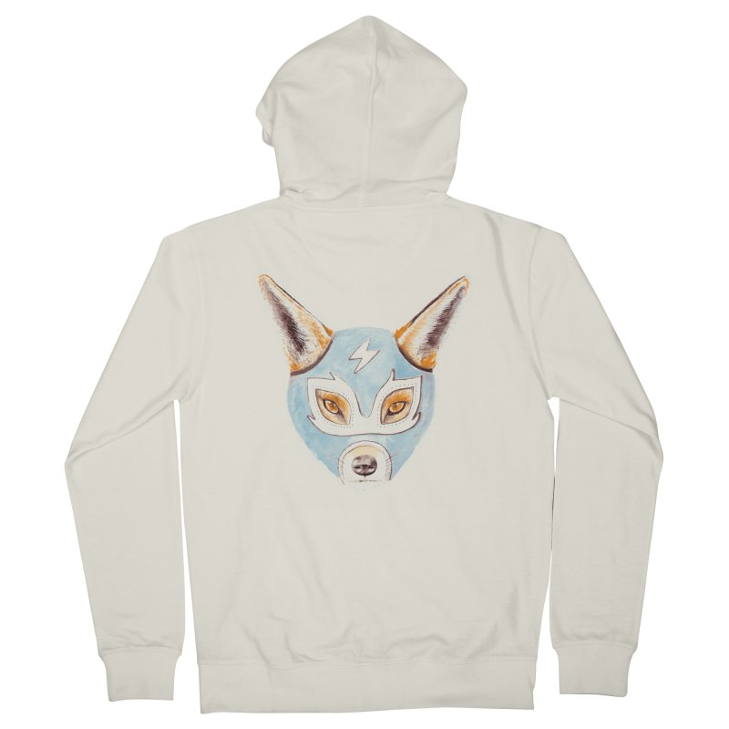 Andrew, the Fox Wrestler Men's French Terry Zip-Up Hoody by Speakerine / Florent Bodart