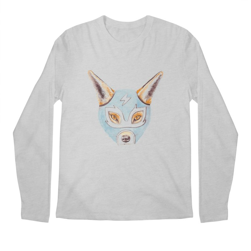 Andrew, the Fox Wrestler Men's Longsleeve T-Shirt by Speakerine / Florent Bodart