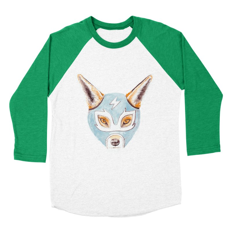 Andrew, the Fox Wrestler Women's Baseball Triblend Longsleeve T-Shirt by Speakerine / Florent Bodart