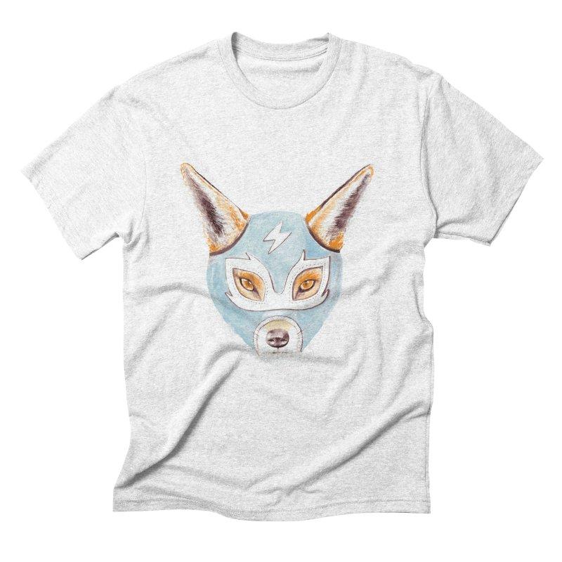 Andrew, the Fox Wrestler Men's Triblend T-shirt by Speakerine / Florent Bodart