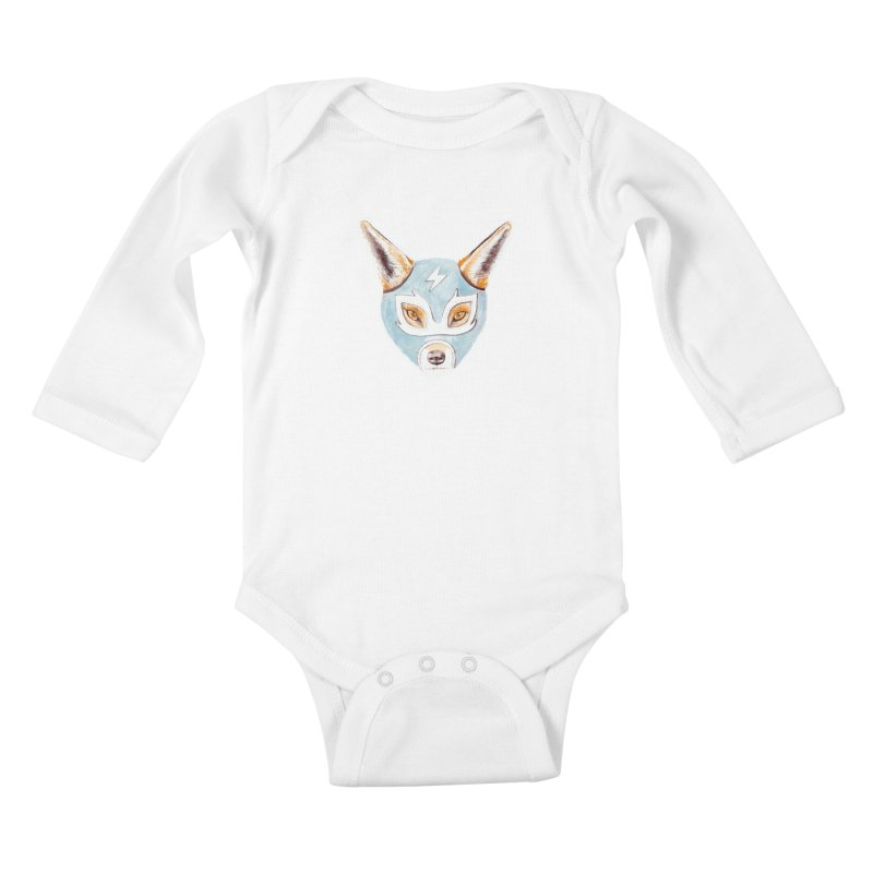 Andrew, the Fox Wrestler Kids Baby Longsleeve Bodysuit by Speakerine / Florent Bodart