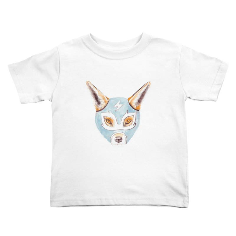 Andrew, the Fox Wrestler Kids Toddler T-Shirt by Speakerine / Florent Bodart