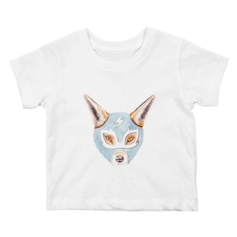Andrew, the Fox Wrestler Kids Baby T-Shirt by Speakerine / Florent Bodart